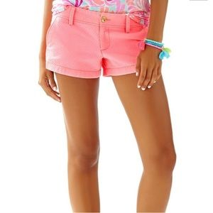 Lilly Pulitzer Neon Pink Textured The Walsh Shorts